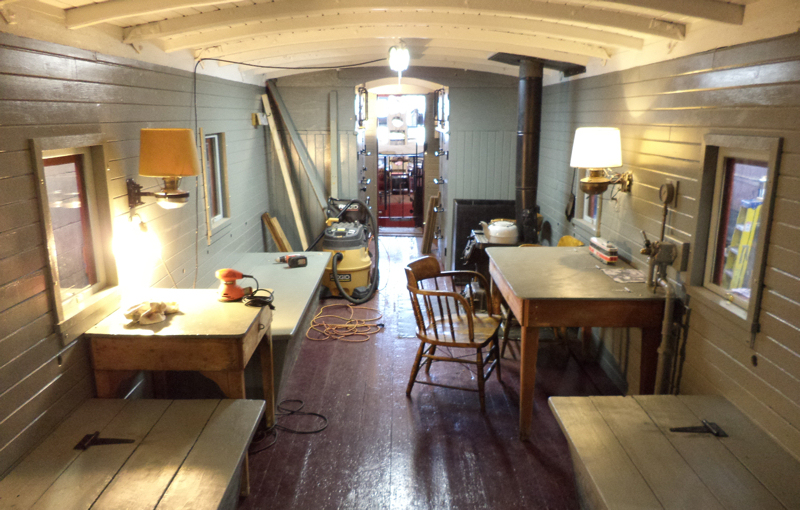 Websites For Sale >> The interior of our TH&B Caboose #70 – Toronto Railway Historical Association